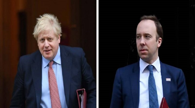 BRITISH SHOCKED AS PM BORIS JOHNSON & HEALTH SECRETARY HANCOCK TEST POSITIVE FOR CORONAVIRUS
